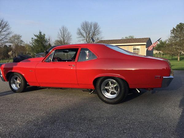 1969 v7 ysi race Procharger 275 radial street/strip nova  for Sale $39,000