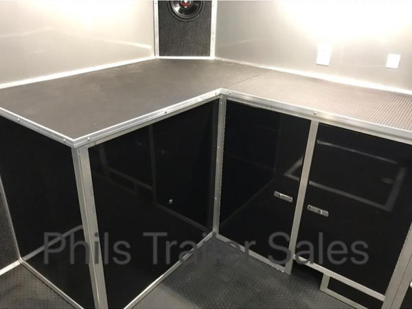 24 HAULMARK EDGE PRO BLACK OR WHITE  ENCLOSED RACE TRAILER H  for Sale $19,999