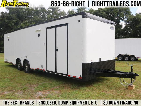 BLACK and WHITE 30' Continental Race Trailer