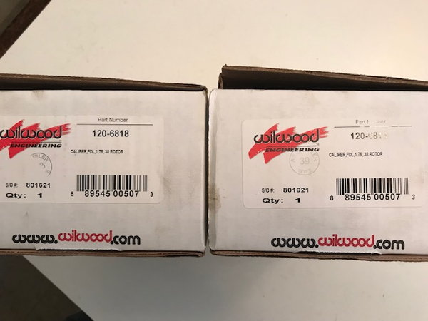Wilwood Dynalite Brake Calipers  for Sale $150