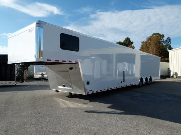 2020 48' BRAVO LOADED RACE TRAILER WITH BATH ROOM