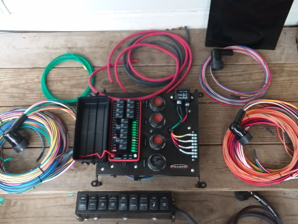 wiring harness & switch panel