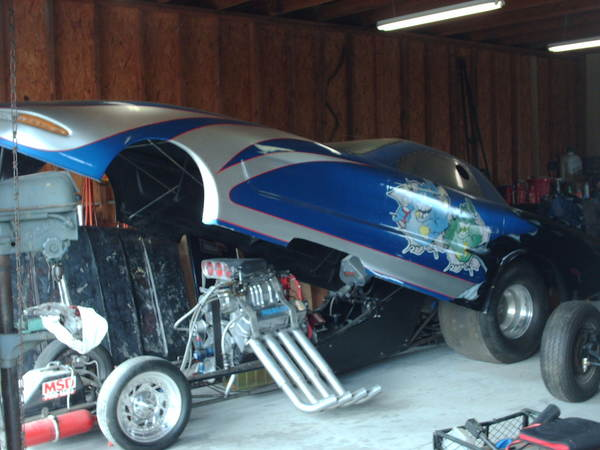 02 Funnycar S&W 125 Chassis,02 Vette body  for Sale $40,000