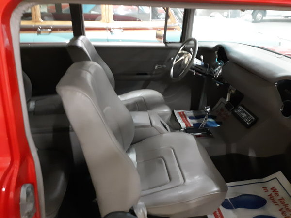1955 Chevy wagon blown pro street with rear seat.trade