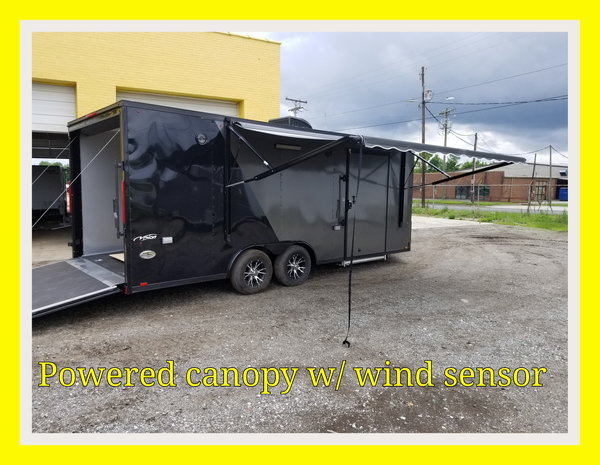 2019  20 foot Race Trailer in charcoal and black out Manager