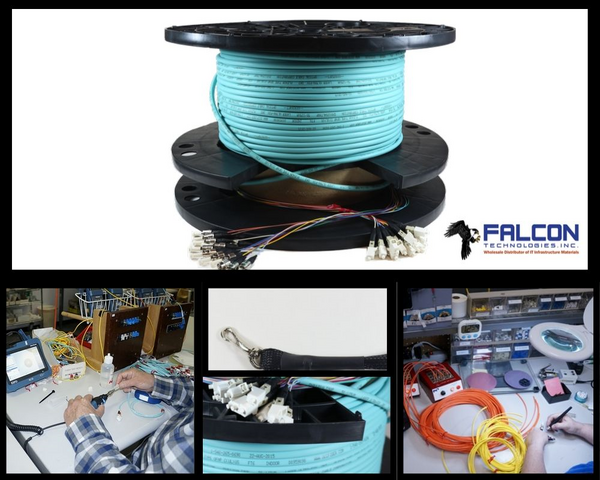 Pre Terminated Fiber Optic Cable Assemblies at FalconTech  for Sale $258
