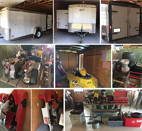Karting Operation: Trailer, Karts, Engines, and Parts  for Sale $2,600