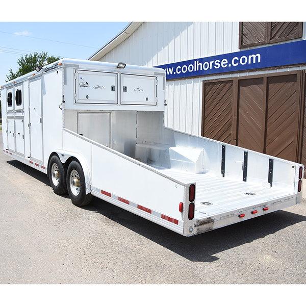 2004 CM 2 Horse Trailer with Car Hauler Bumper Pull  for Sale $29,900