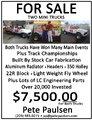Two Mini Trucks