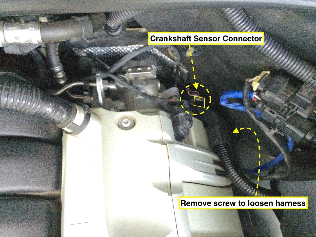 Cayenne S 957 V8 Crankshaft Position Sensor Replacement