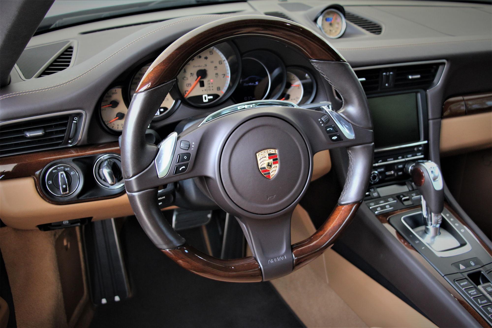 black 991 turbo s with mahogany interior rennlist