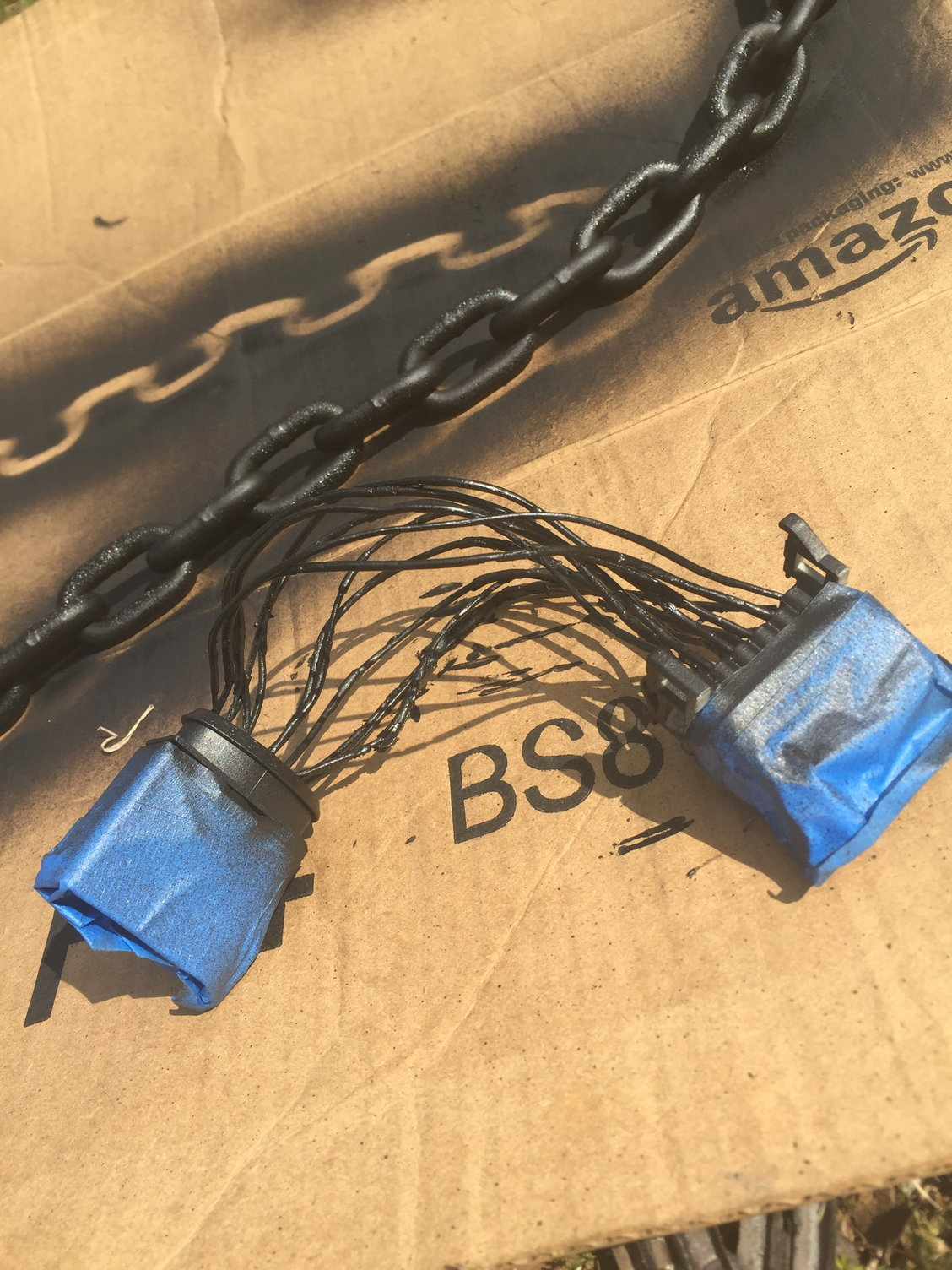 Brittle Wiring Insulation Rennlist Porsche Discussion Forums Cayenne Headlight Harness In Case Anyone Comes Across This I Used Black Spray Plastidip So Far Good