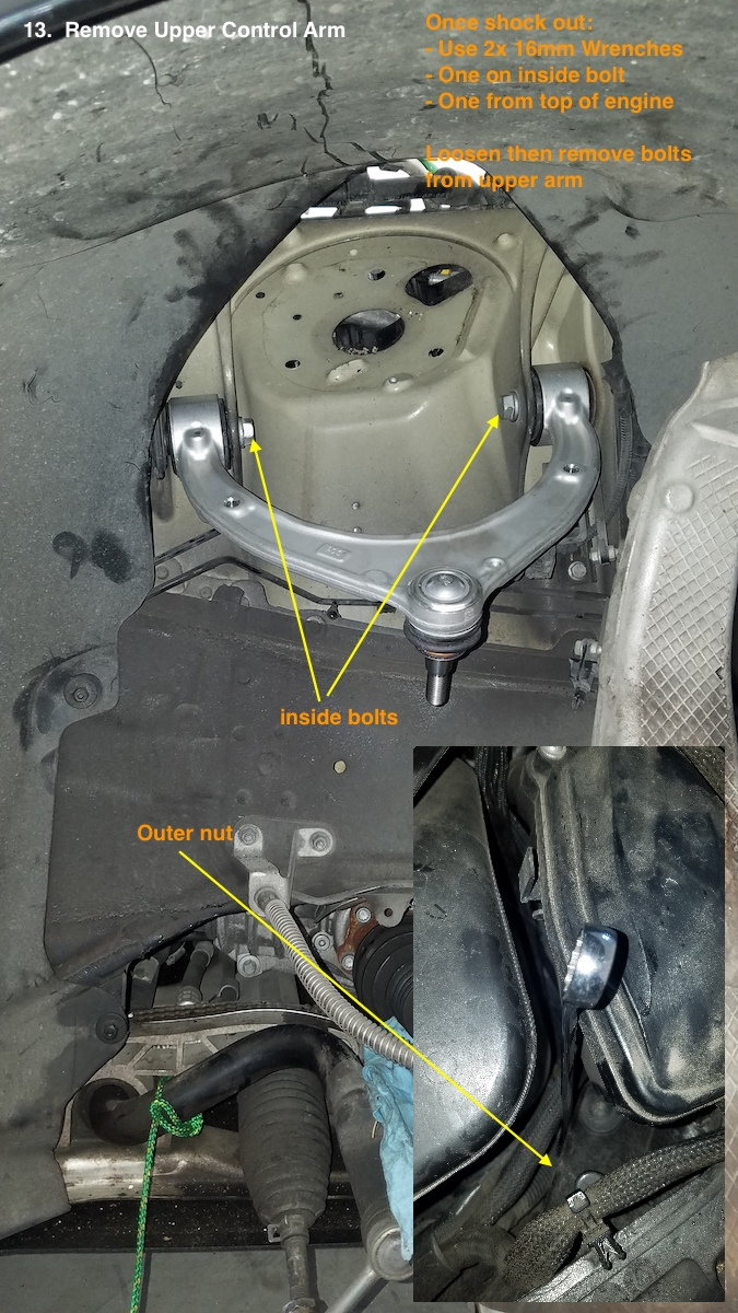 Rear Differential Fluid Change >> How To: DIY: Upper Control Arm Replacement - Porsche Panamera