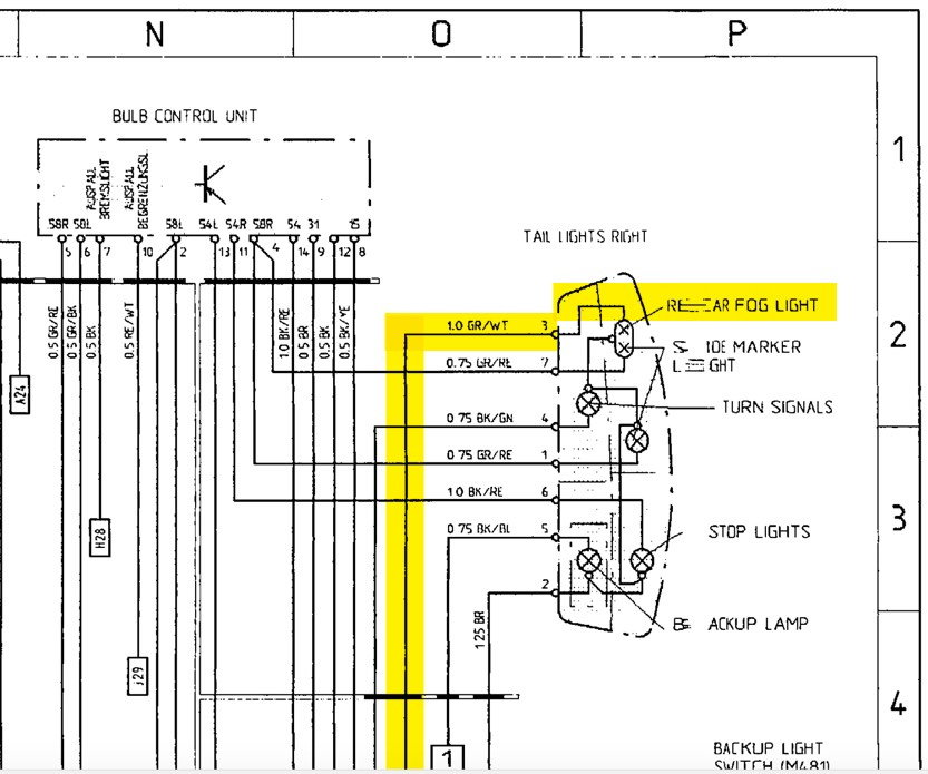 rear fog light wiring diagram controller  kawasaki z650