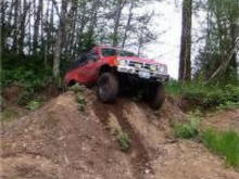 Just having a bit of fun in the gravel banks. Made a trail into the tree's behind the Runner earlier that day.