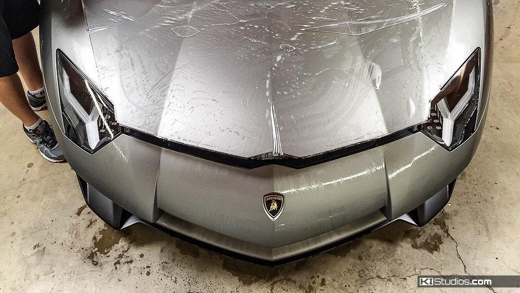 Satin Paint Protection for a Lamborghini Aventador SV