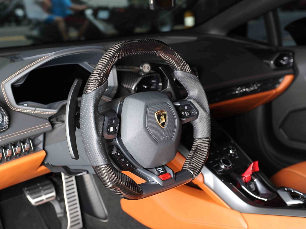 Wallpaper Lamborghini Huracan Steering Wheel 2018 Carina