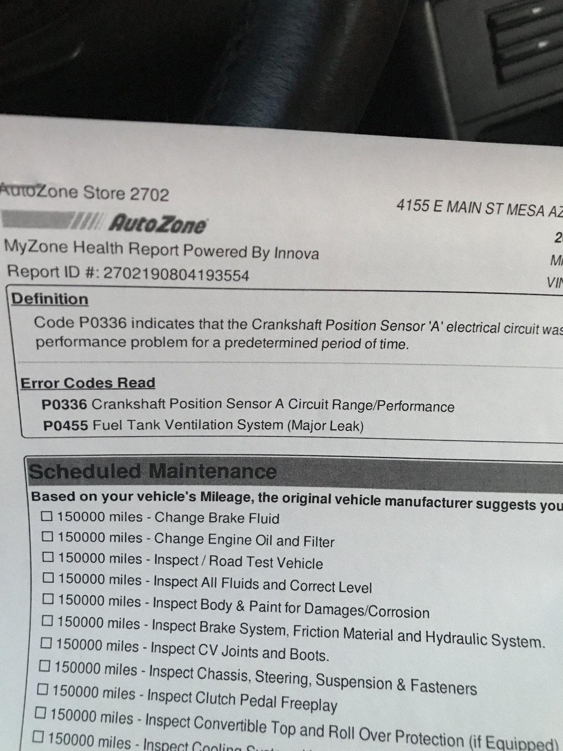 Crankshaft positioning sensor - 6SpeedOnline - Porsche Forum