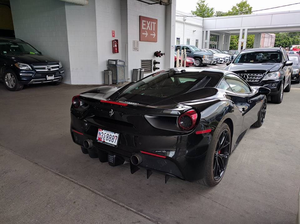 as always supercars roam around this wealthy area in bethesda maryland this car looks absolutely sick this photo was taken by anthony castro - Ferrari 488 Gtb Black