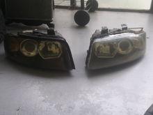 Clean Audi A4 B6 Headlamps