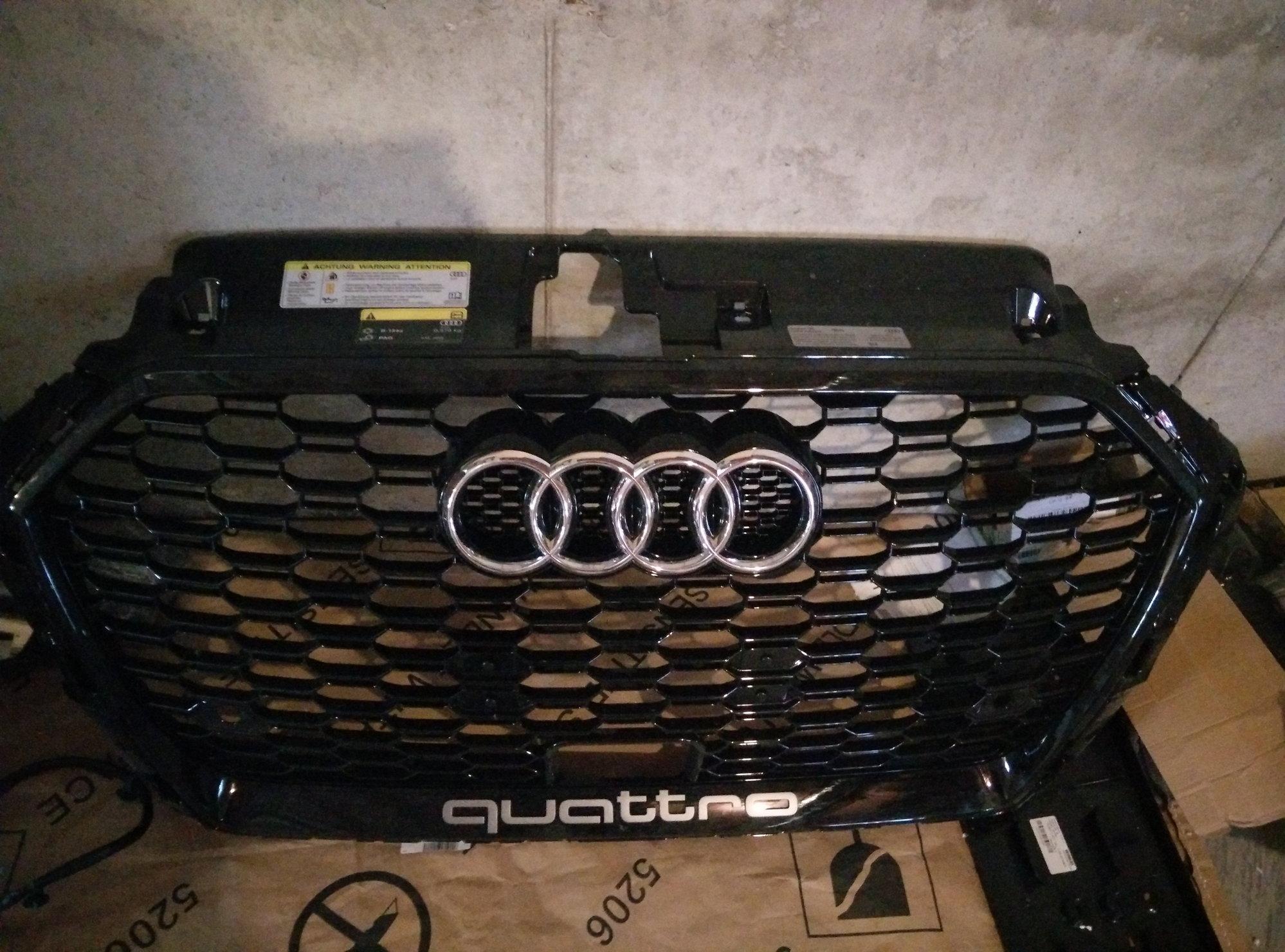 Audi A3 FS RS3 Facelift black optics front grill for 8v ...