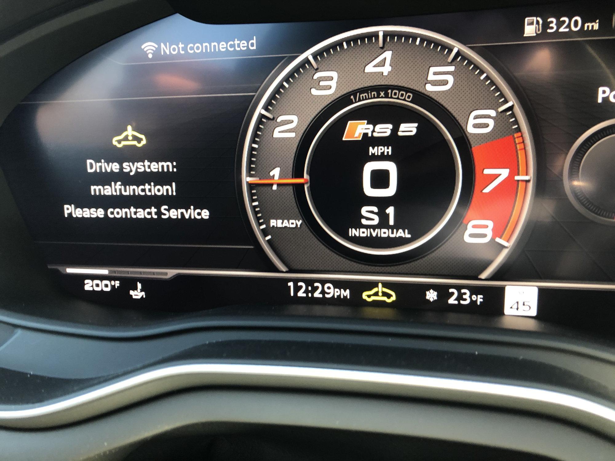 Drive System Malfunction - AudiWorld Forums
