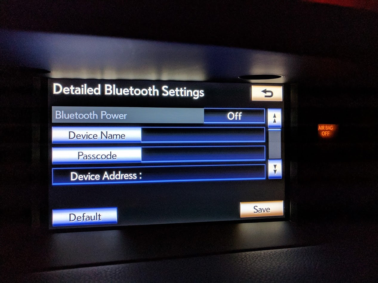 2013 ES 350 Bluetooth disabled? - ClubLexus - Lexus Forum
