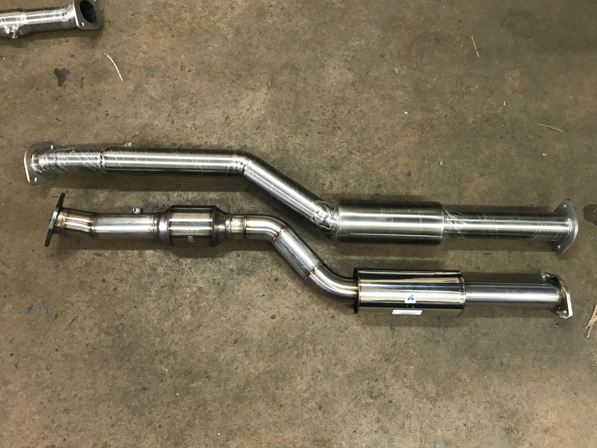 Greddy Ti Exhaust With Custom Mid Pipes Clublexus Lexus Forum Muffler Below Comparison Of Both Together
