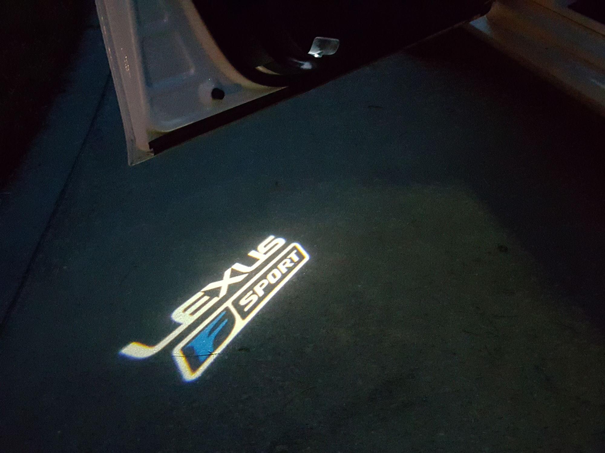 2013 Lexus F-Sport Door light projector logo. & Changing the door welcome courtesy light. - Page 9 - ClubLexus ...