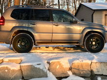 GX470 with winter tires and rims. Toyo Observe 265/70R17 and Fast HD Rims.