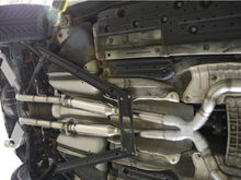 Mach V custom exhaust. Dr. Das tandom crossover, mufflers and tips. 3rd cat delete. Hi!-flow Vibrant resonators.