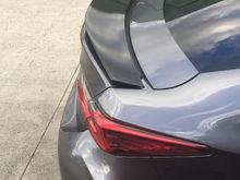Rear spoiler gloss black.