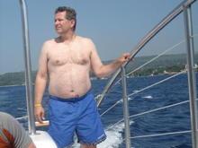 Sailing in Jamaica - fat man photo