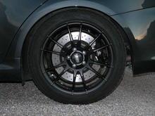 Winter wheel close up