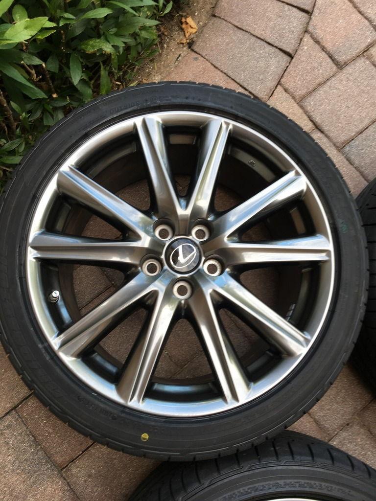 Bridgestone Potenza Re050A >> FL FS: 2015 OEM Lexus GS350 F-Sport wheels & tires - ClubLexus - Lexus Forum Discussion