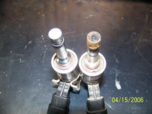 Before and after cleaning, injectors had 186K on them
