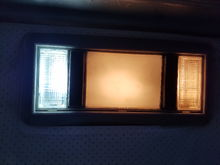 Took this picture to demonstrate difference between old yell incandescent bulbs and plug n play LED bulbs.