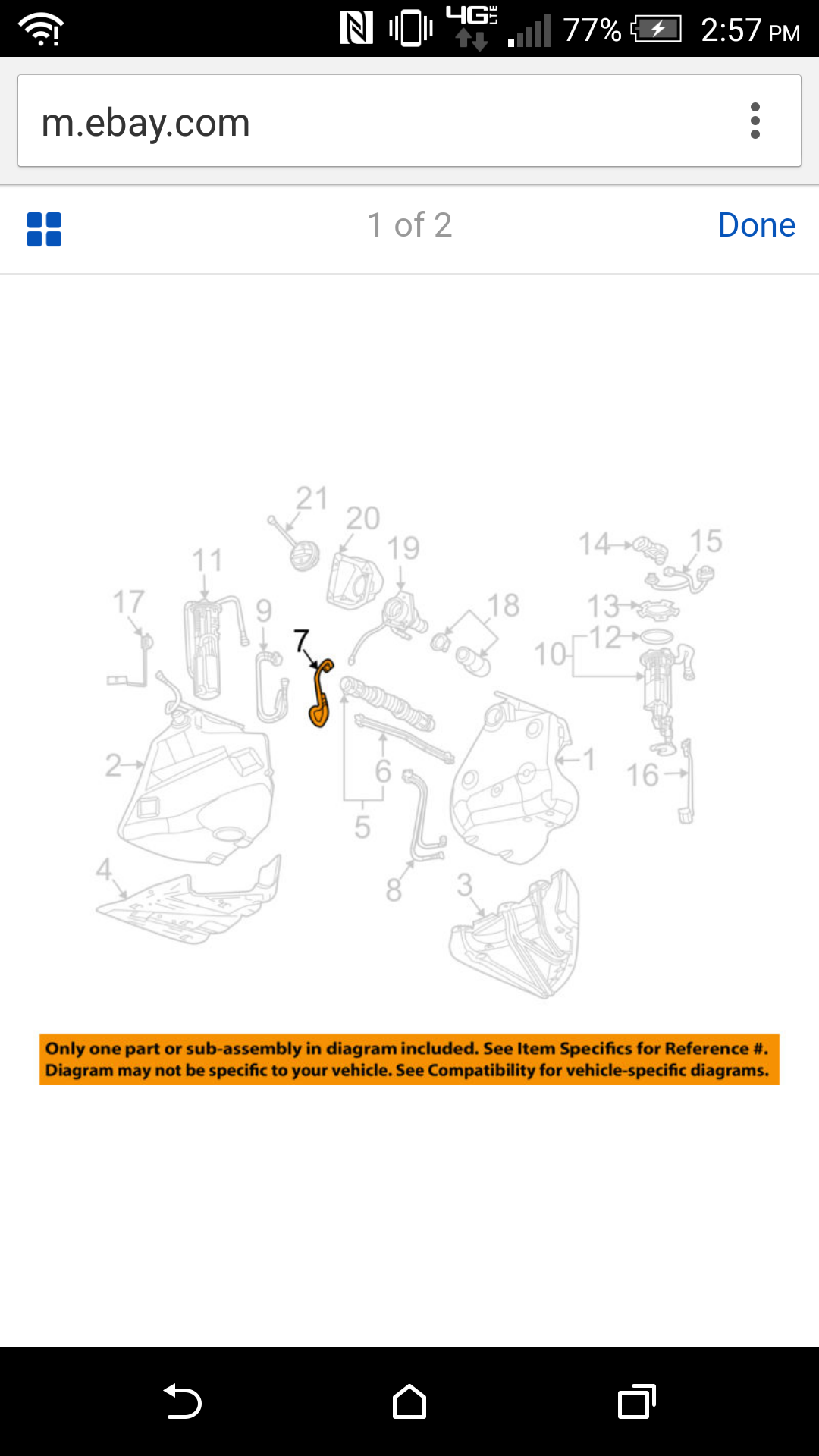 GM OEM Fuel System-Feed Line 10337588