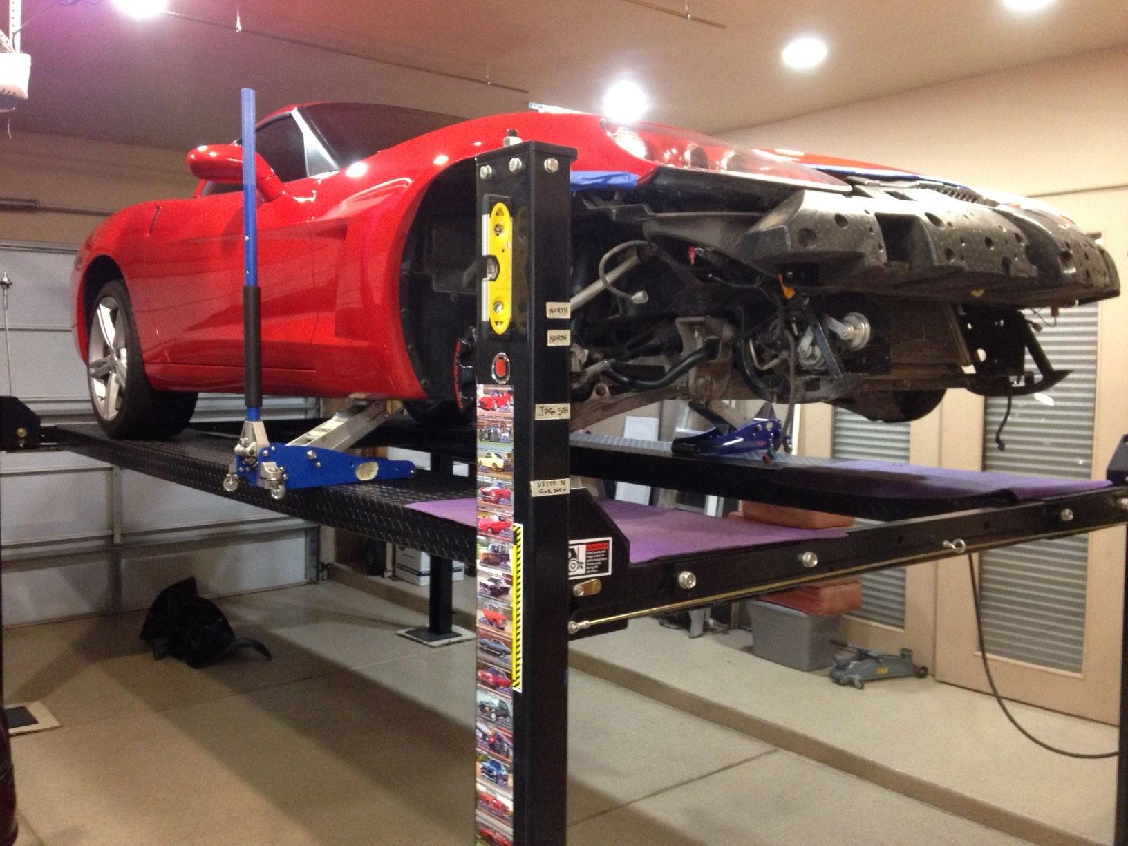 bought a lift for my gs corvetteforum chevrolet corvette forum