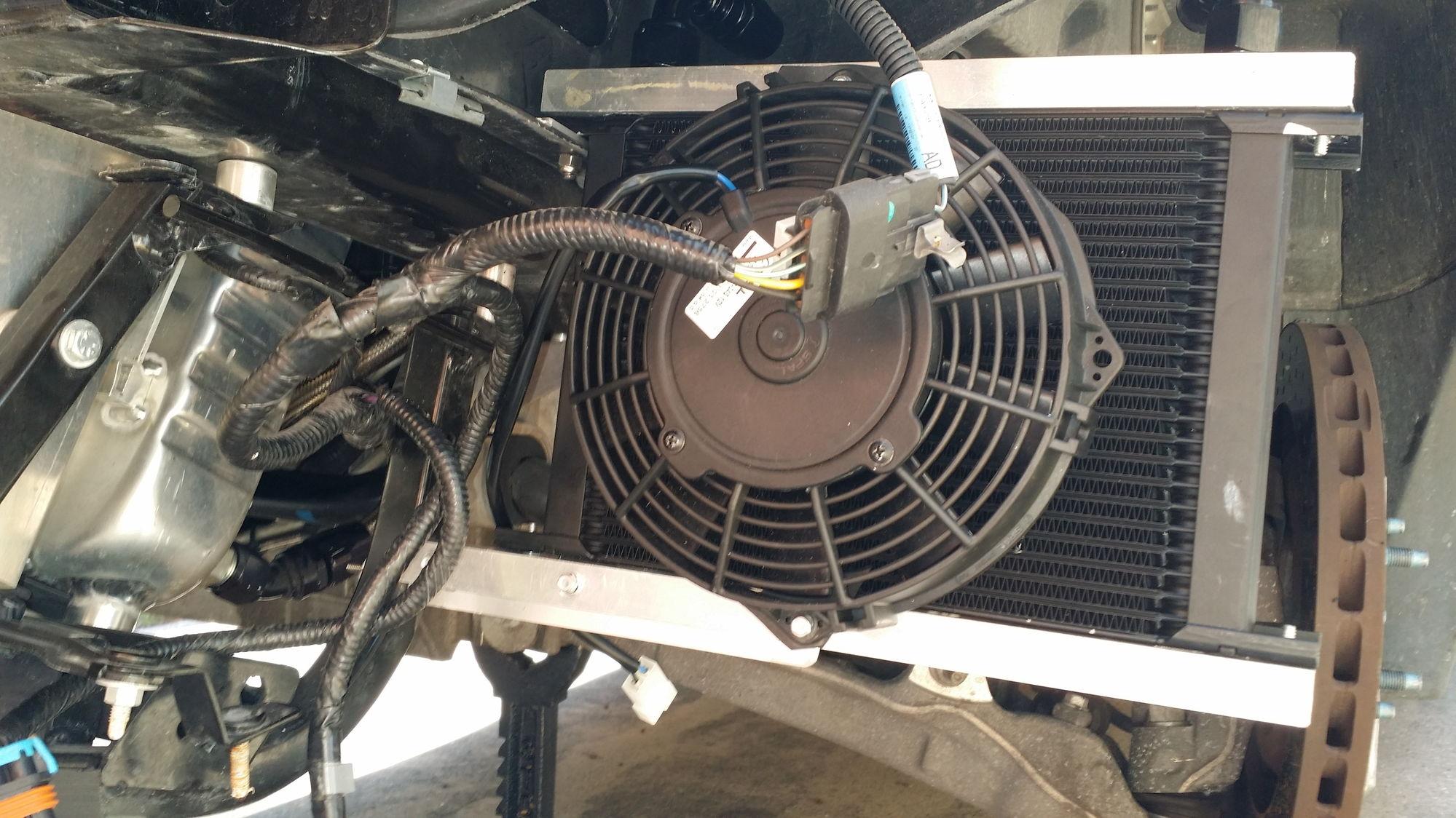 External oil cooler install on grand sport corvetteforum for How does motor oil work