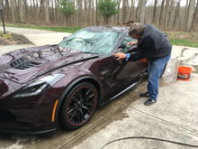 First week at home for the new Corvette