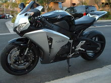 2009 CBR1000RR pictured after I put it back together. I crashed this one at Willow Springs turn 3 race group.