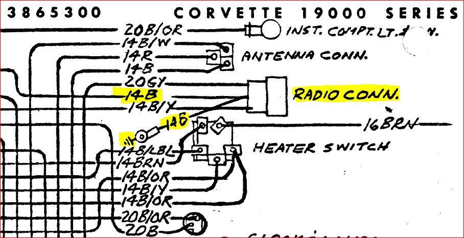 c2 radio shuts off when head lights are on