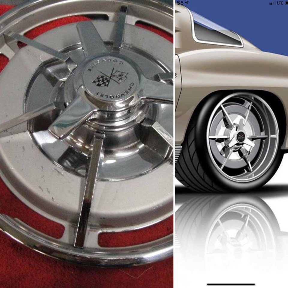 C2 1963 Corvette Hubcap Inspired Wheels