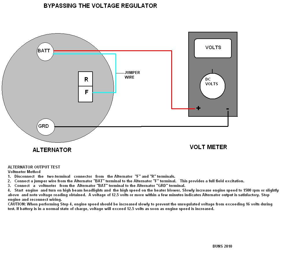 Alternator Test With Remote Voltage Regulator C2 64 - Corvetteforum
