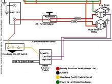 23254Headlight relay circuit