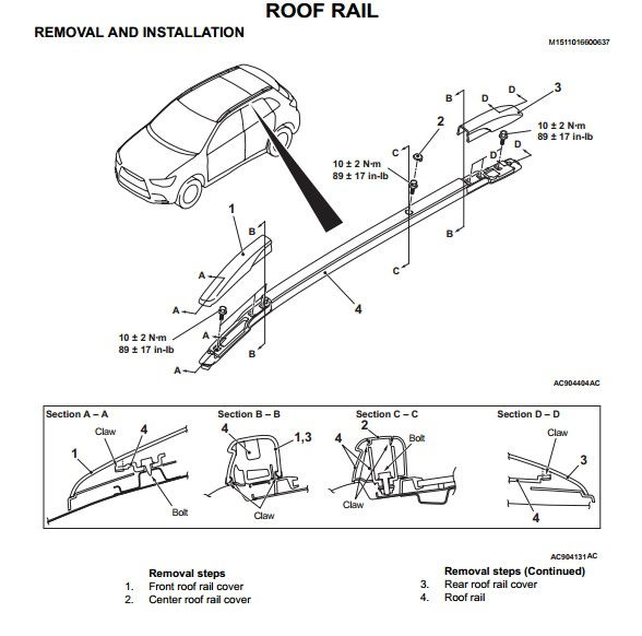 2015 Gt Roof Rail Removal Evolutionm Mitsubishi Lancer