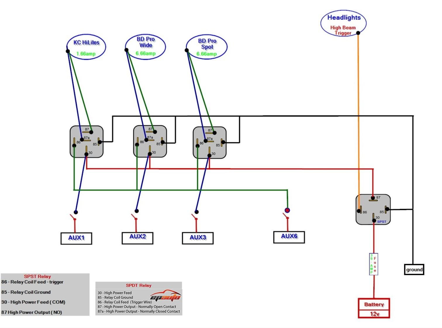 Need Help With Wiring Lights Spst And Spdt Relays Ford F150 Diagram In Parrallel Here Is The One Someone Play Connect Dots Hahaha