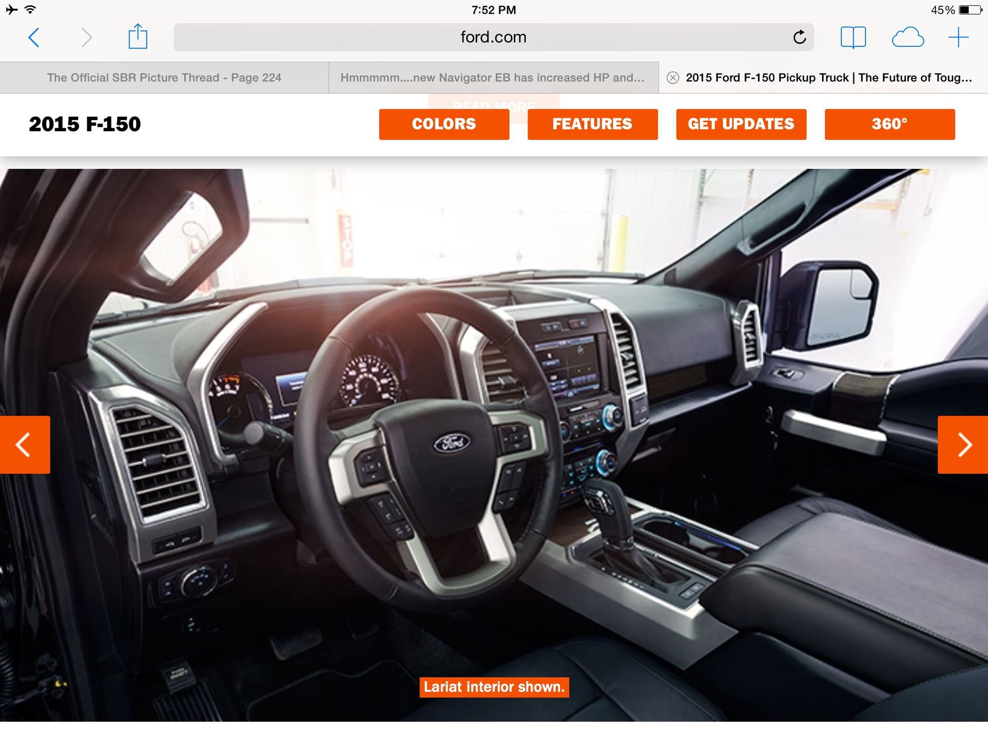 ... Laramie Leather, Where The King Ranch Match Up With The Laramie Longhorn  And The Platinum Is In Line With The Laramie Limited Leather. Lariat  Interior