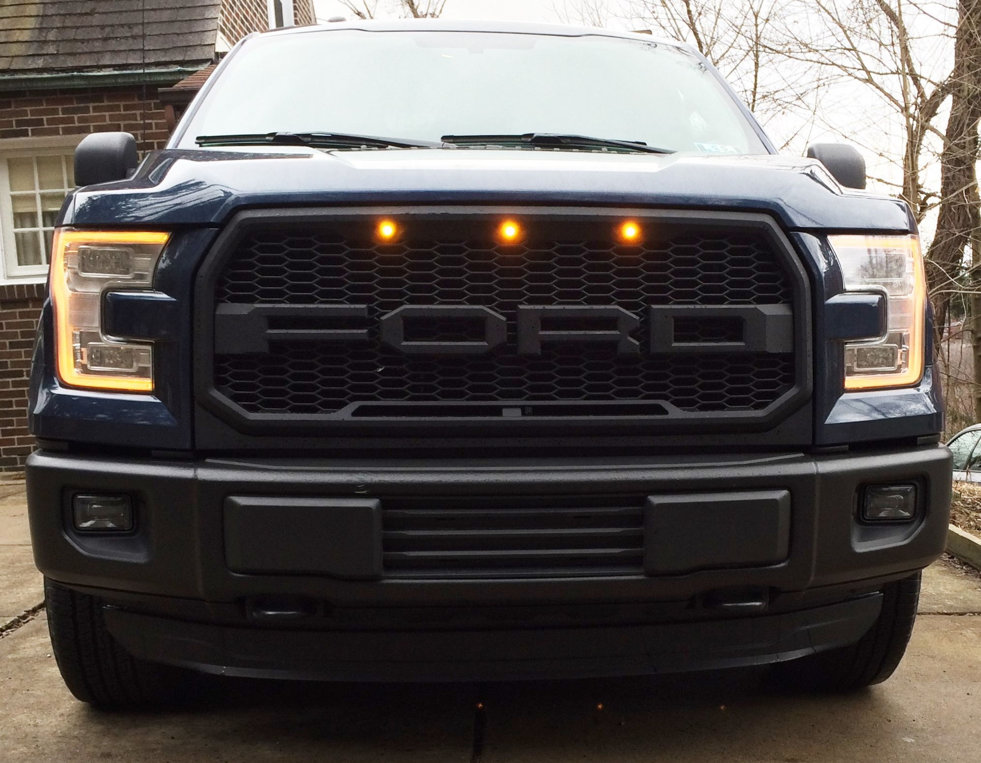 """Blacked Out Ford F150 >> Who sells this black """"FORD"""" (Raptor style) Grille? - Ford F150 Forum - Community of Ford Truck Fans"""